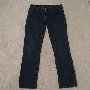 Ralph Lauren Dark Wash Straight Leg Designer Jeans